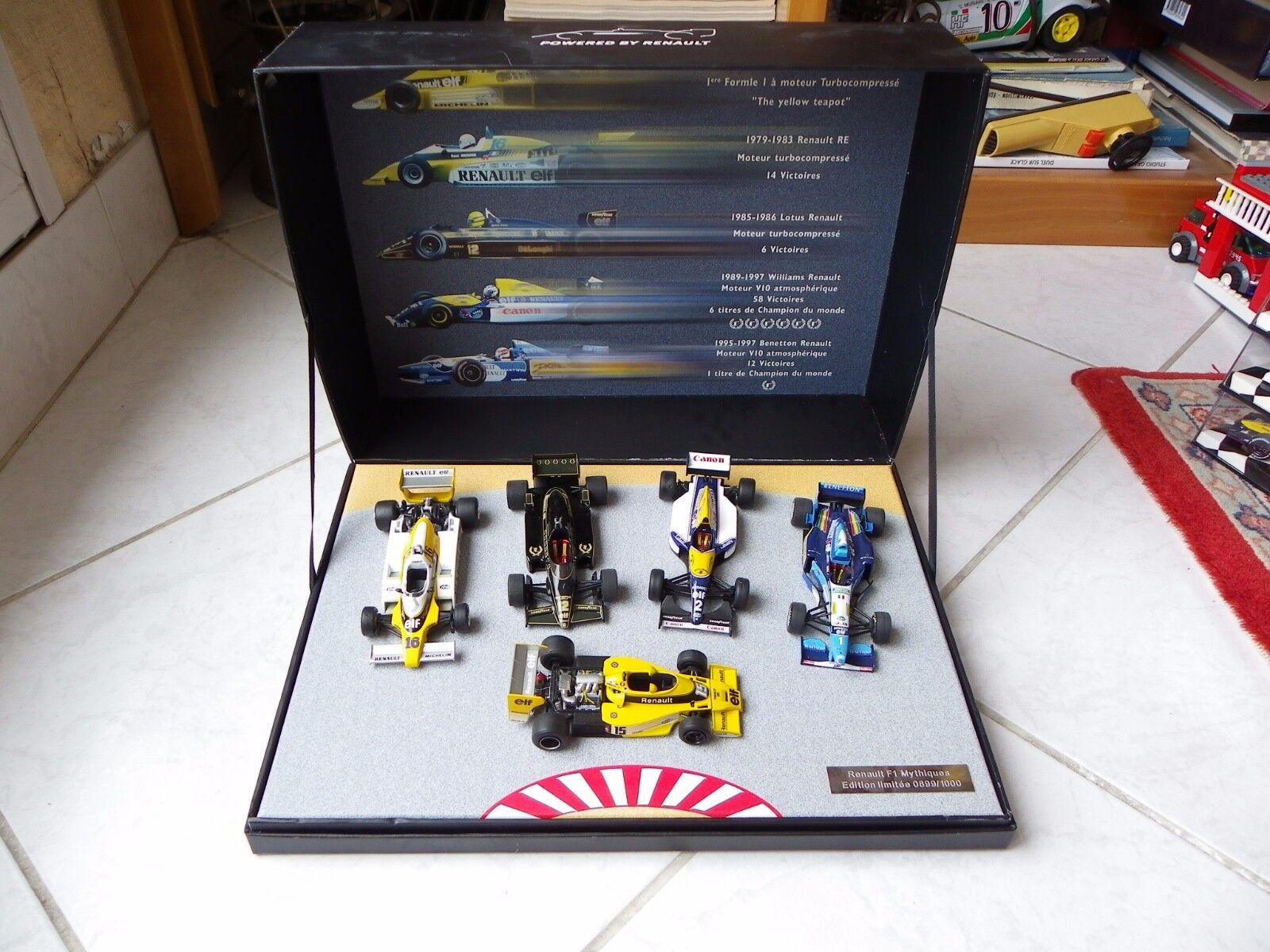 Schatulle Renault mythische Lotus Williams Benetton Senna Prost 1 43 F1 Formel 1  | Innovation