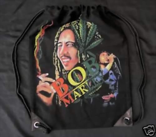 NEU Cooler RUCKSACK Bag SPORTBEUTEL mit BOB MARLEY in schwarz