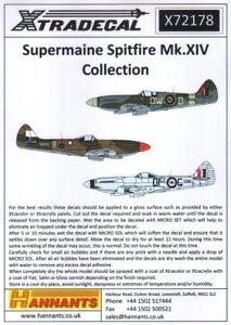 NEW-Xtradecal-X72178-1-72-Supermarine-Spitfire-Mk-XIV-039-High-Back-039-14-Markings