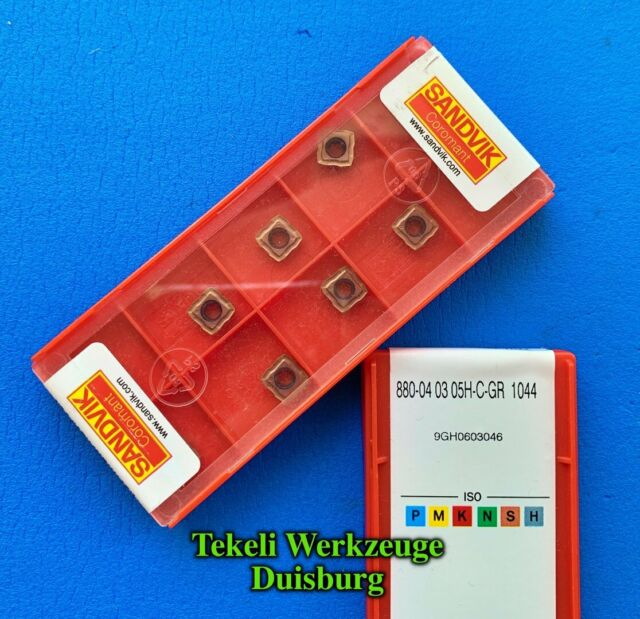 10 pcs SANDVIK carbide drill inserts 880-03 03 05 H-C-GR 1044