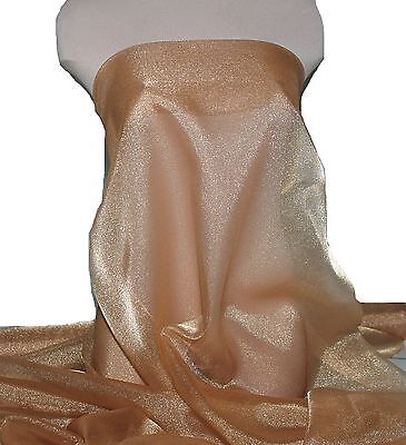 SPARKLE ORGANZA FABRIC DUSTY COPPER..PAGEANT DRESS, FORMAL, CRAFTS, SKIRTS BTY