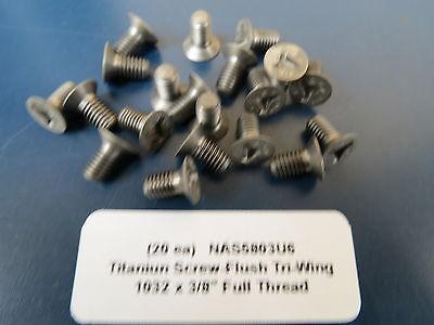 "3//16"" #10-32 x .463"" Titanium Hex Head Bolts Aircraft Aerospace NAS673V-H2 33"