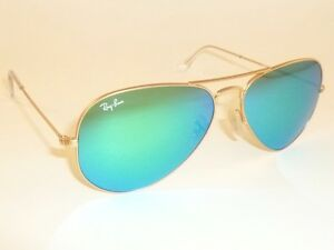 c52ba9347c81f New RAY BAN Aviator Sunglasses Matte Gold Frame RB 3025 112 19 Green ...