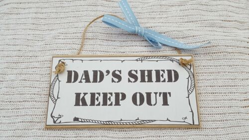 Dad/'s shed keep out Wooden MDF Craft Sign Plaque
