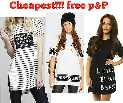 Womens Ladies turn up sleeve BAGGY OVERSIZED T Shirt TOP plus size 8-26 lot a79