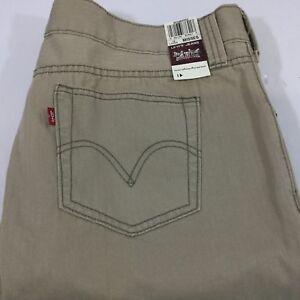a593df43e48 Levi Strauss Tab Twill Jeans Tan Misses 16L 16 Long NWT 5 Pockets ...