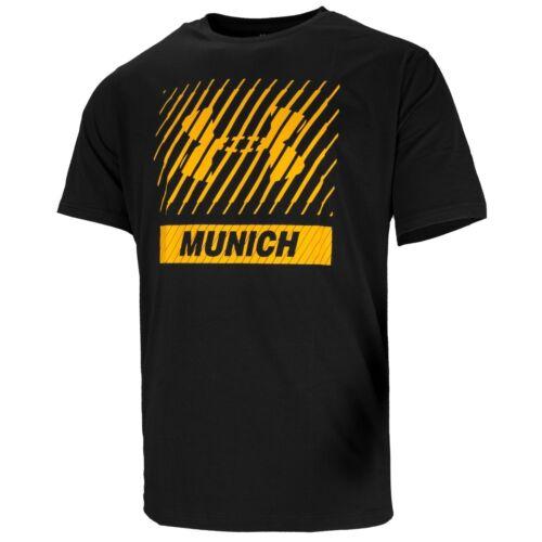 Under Armour munich Big logotipo short sleeve té ocio t-shirt Black 1325291-001