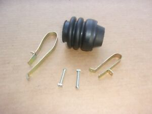 NEW-1955-65-Plymouth-Dodge-Driveshaft-Trunion-U-Joint-Dust-Boot-Cover-w-Clamps