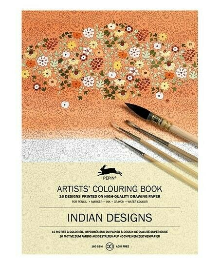 Indian Designs: Artists' Colouring Book By Roojen, Pepin