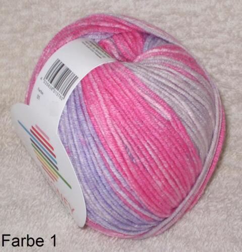 Musterbildend 4,40€//100gr 50 gr HONEY v G-B weiches Baumwollgarn Farbverlauf