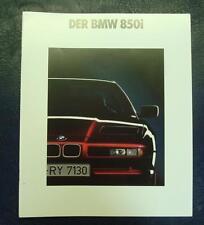 BMW 850i Car Sales Brochure February 1990 (GERMAN TEXT) #0110806112/90