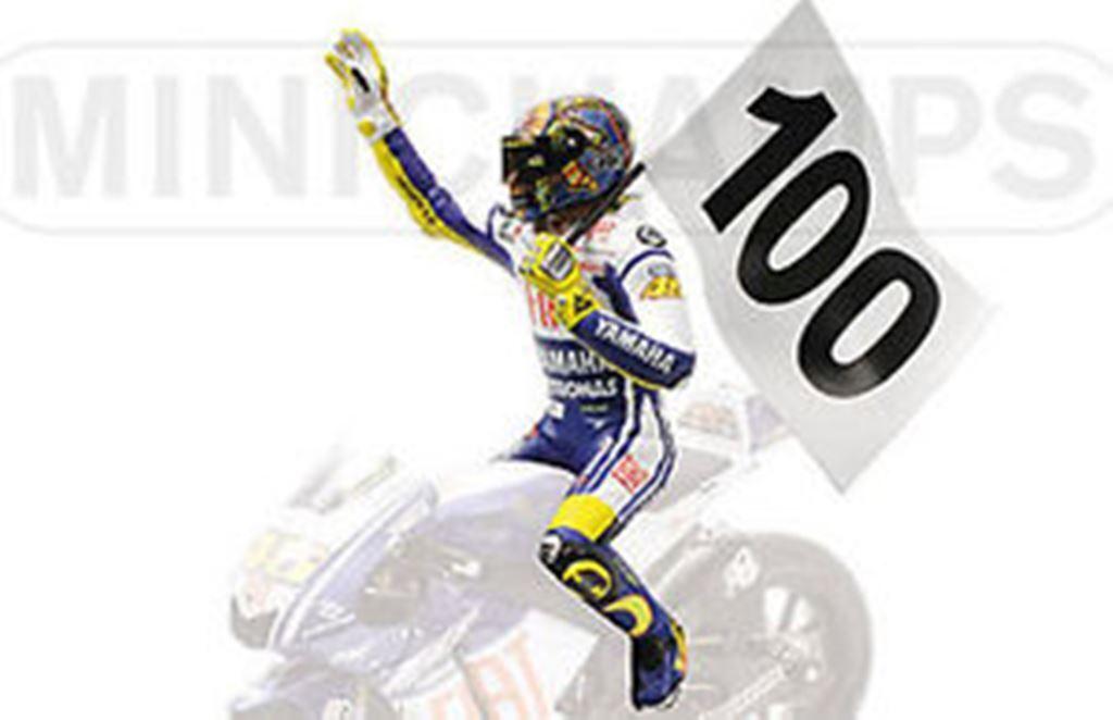 Minichamps 312 090176 V Rossi Figura 100 GP gana ASSEN MOTOGP 2009 1 12th