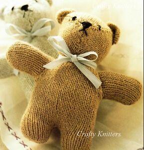 Knitting Pattern Baby Teddy Bear : Knitting Pattern Cuddly Teddy Bear Baby Toy eBay