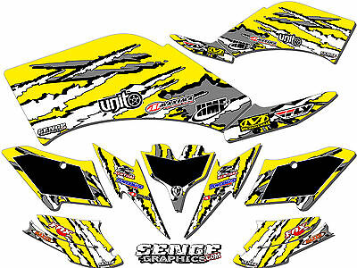 Graphic Kit CanAm DS 450 ATV Quad Decals Wrap Can-Am DS450 2008-2016 Parts ICE Y
