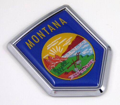 Montana USA State Flag Car Chrome Emblem Decal Sticker car bike laptop boat