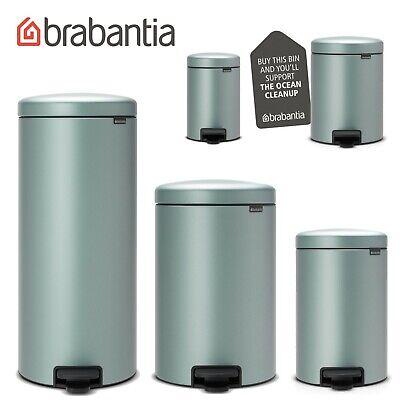 brabantia Treteimer NewIcon 12 L Mandel Beige nachhaltiger Mülleimer Abfalleimer