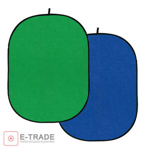 Studio-portatile-Pop-Up-sfondo-59-034-x-79-034-Pannello-Blu-Verde-Pieghevole-1-5x2m