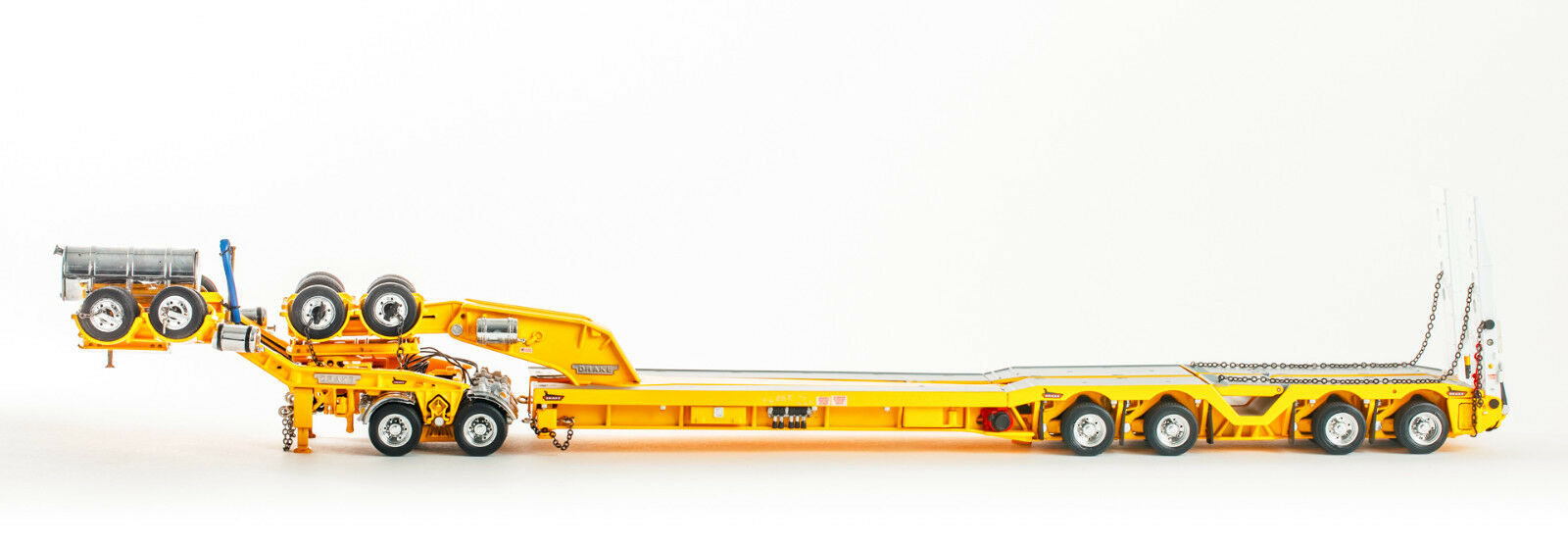 Drake ZT09179 AUSTRALIAN Drake 2x8 Dolly + 4x8 Trailer Yellow Heavy Haulage 1 50