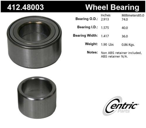 Rear Wheel Bearing For 2002-2006 Suzuki XL7 2004 2003 2005 Centric 412.48003