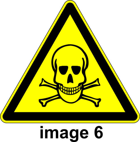 WARNING label For Industrial Safety