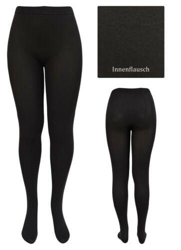 3x Damen Thermo-Strumpfhosen für drunter blickdichte Strickstrumpfhose schwarz