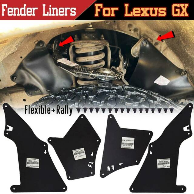 Splash Shield For 2003-2009 Lexus GX460 GX470 Apron Fender Liner Seal Flap