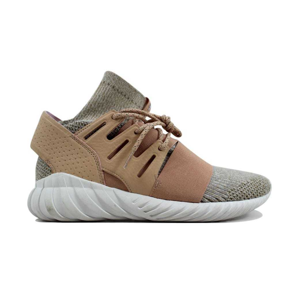 Adidas Tubular Doom Primeknit Pale Nude Clear Brown-Vintage White BB2390 SZ 8.5