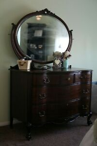 Antique Solid Cherry Dresser With