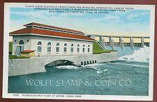 Early Postcard Hydroelectric Plant at Gatum Dam Panama Canal  B4069