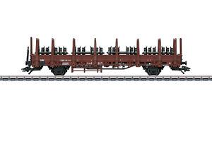 Maerklin-H0-46938-Rungenwagen-Kbs-442-der-DB-034-beladen-mit-Radsaetzen-034-NEU-OVP