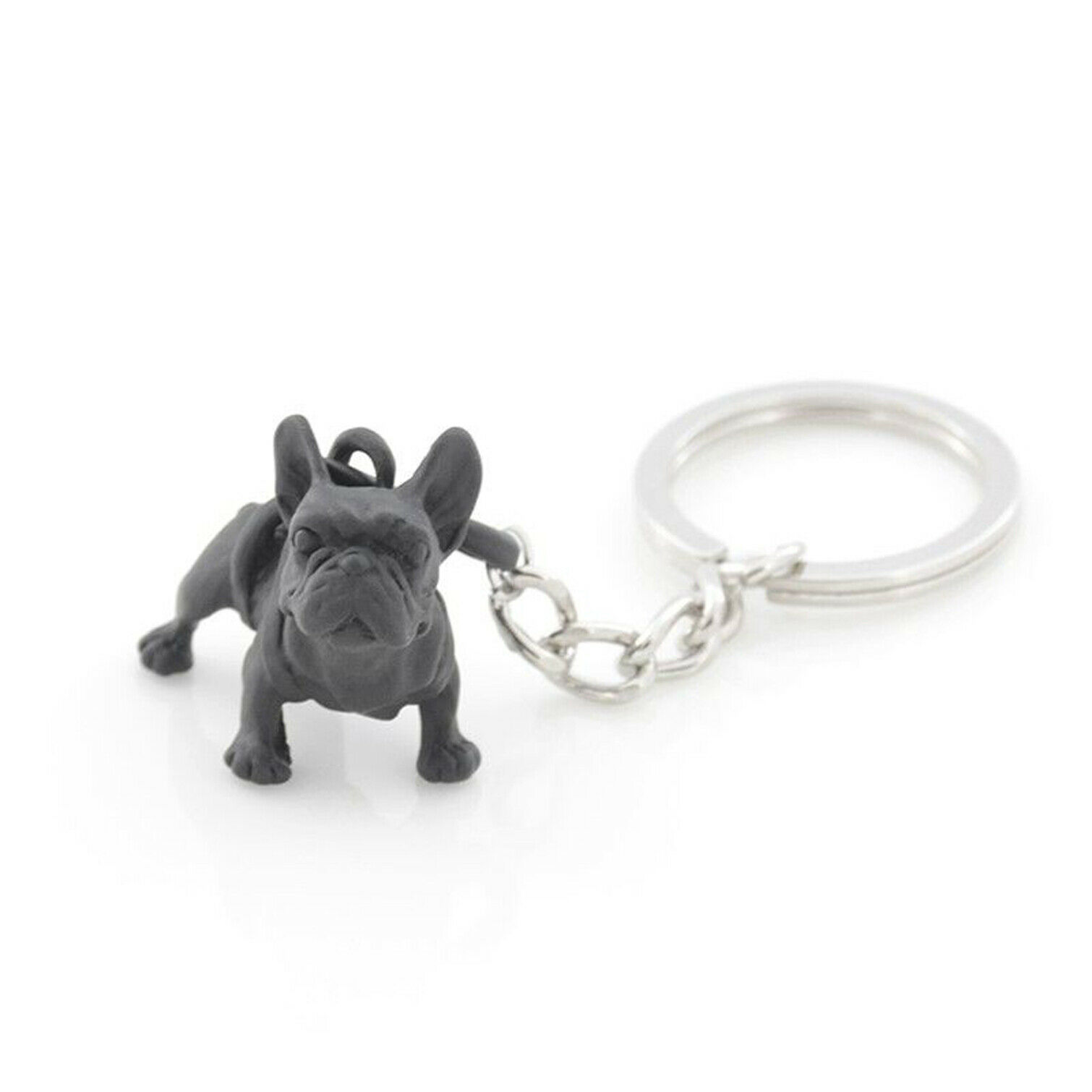 french bulldogs keyring Black/&White