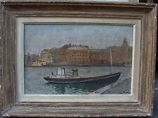 Einar Palme 1901-1993, Hafenszene, datiert 1943