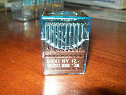 BOX OF 100 SINGER 103K NEEDLES 16X231#12 BALL POINT.