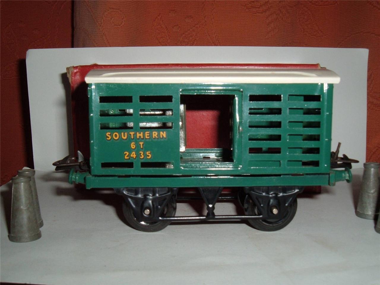 O GAUGE HORNBY R169 NO1 MILK TRAFFIC SOUTHERN RAILWAY 6T 2435 BOX 4 MILK CHURNS