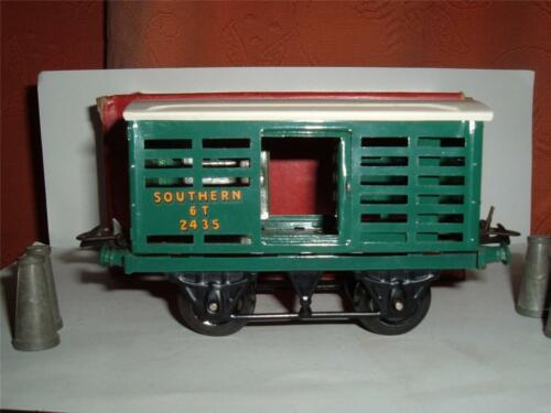 O GAUGE HORNBY R169 NO1 MILK TRAFFIC SOUTHERN RAILWAY 6T 2435 BOX 4 MILK CHURNS
