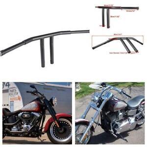 """1-1//4/"""" Fat Chrome 8/"""" Rise T-Bars Handlebar Drag Bar For Harley FLST FXST Custom"""