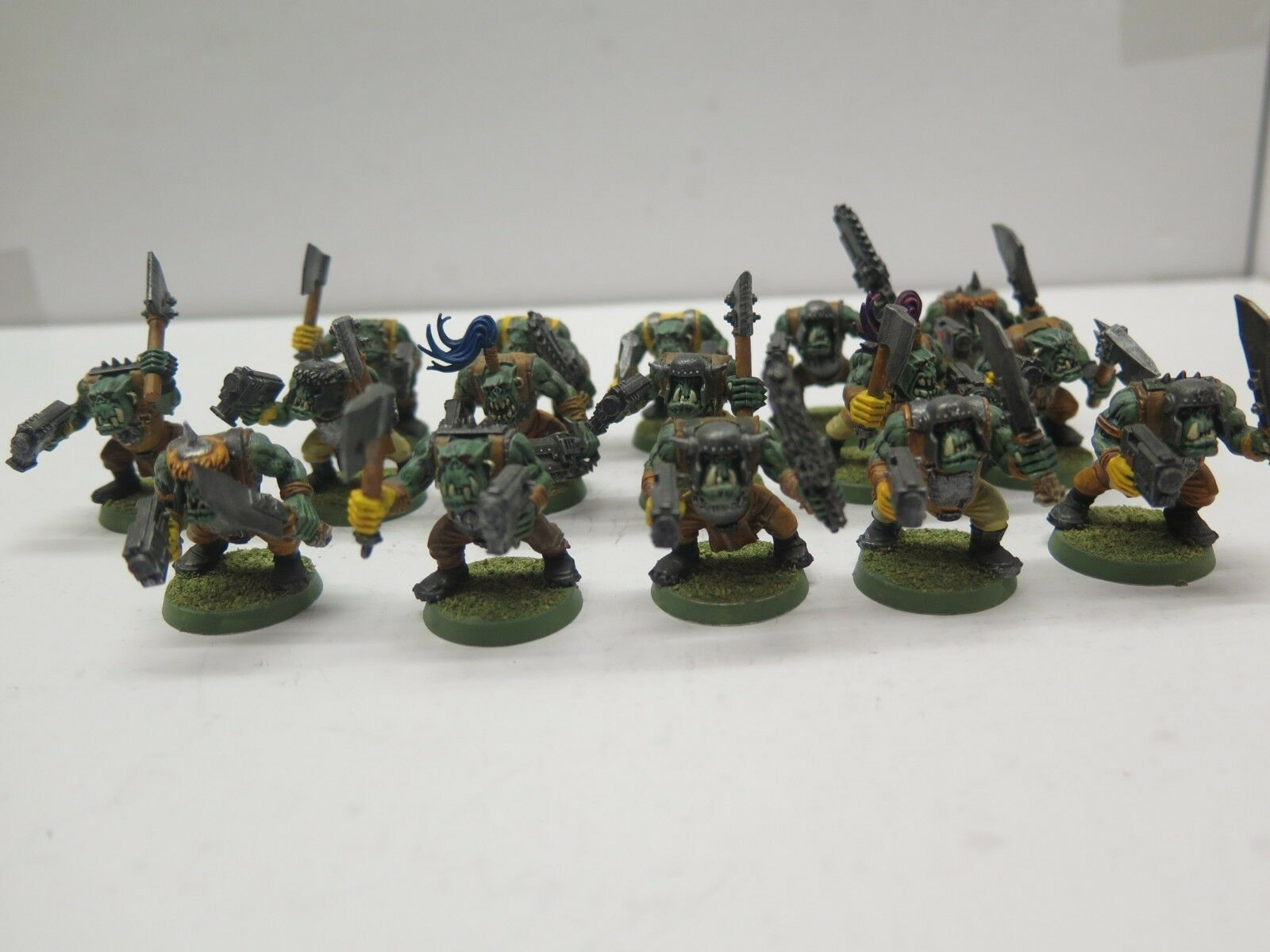 GW WARHAMMER 40K Plastique Nobz Squad (16) Pro Painted