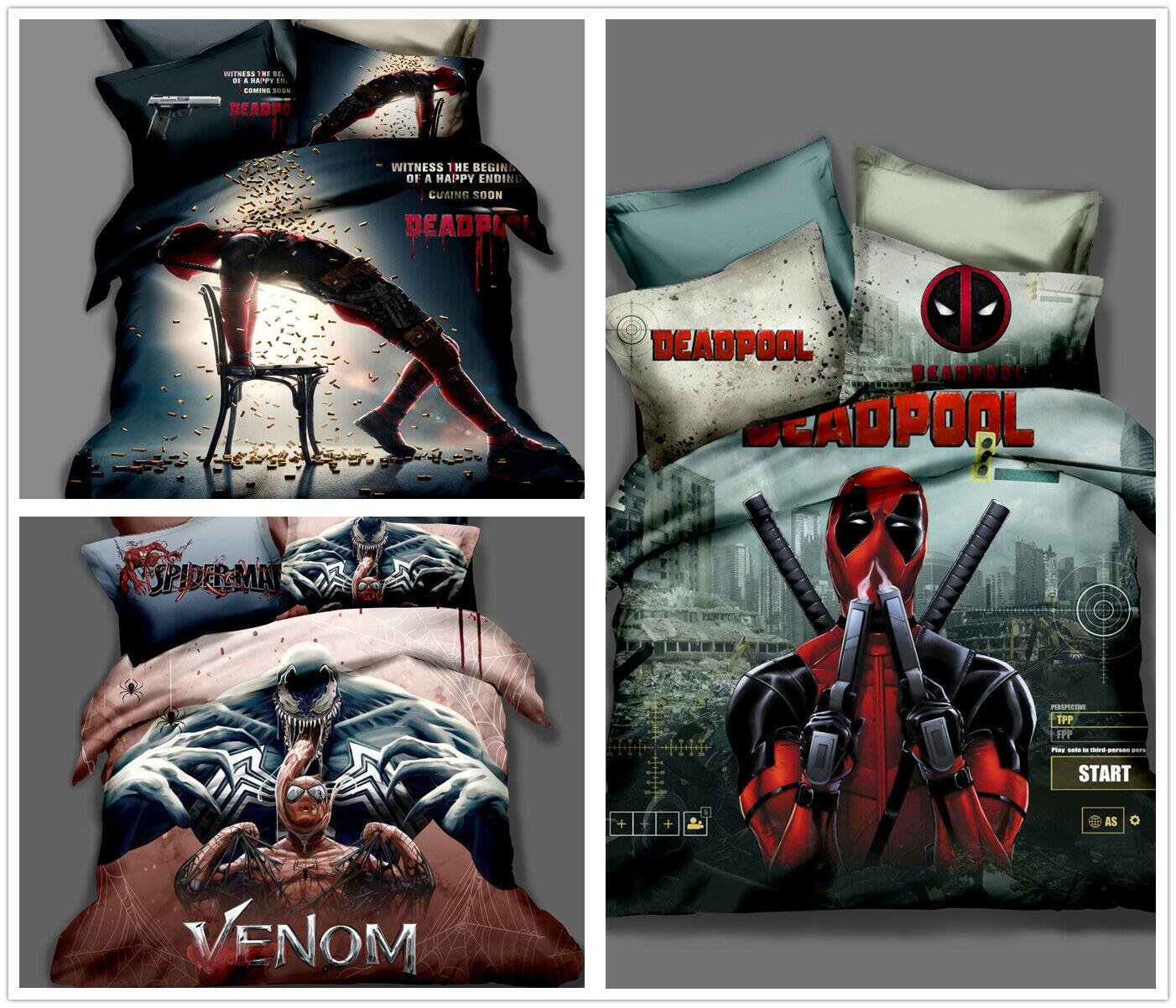 3D Venom Deadpool Bedding Set Duvet Cover Pillowcase Comforter Cover Quilt Cover