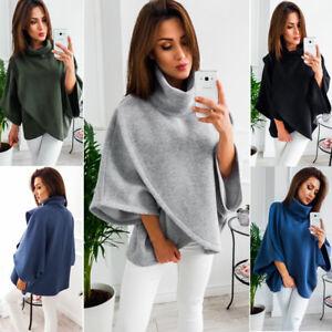 Women-Warm-Knit-Batwing-Top-Poncho-Hoodie-Cape-Cardigan-Coat-Sweater-Outwear