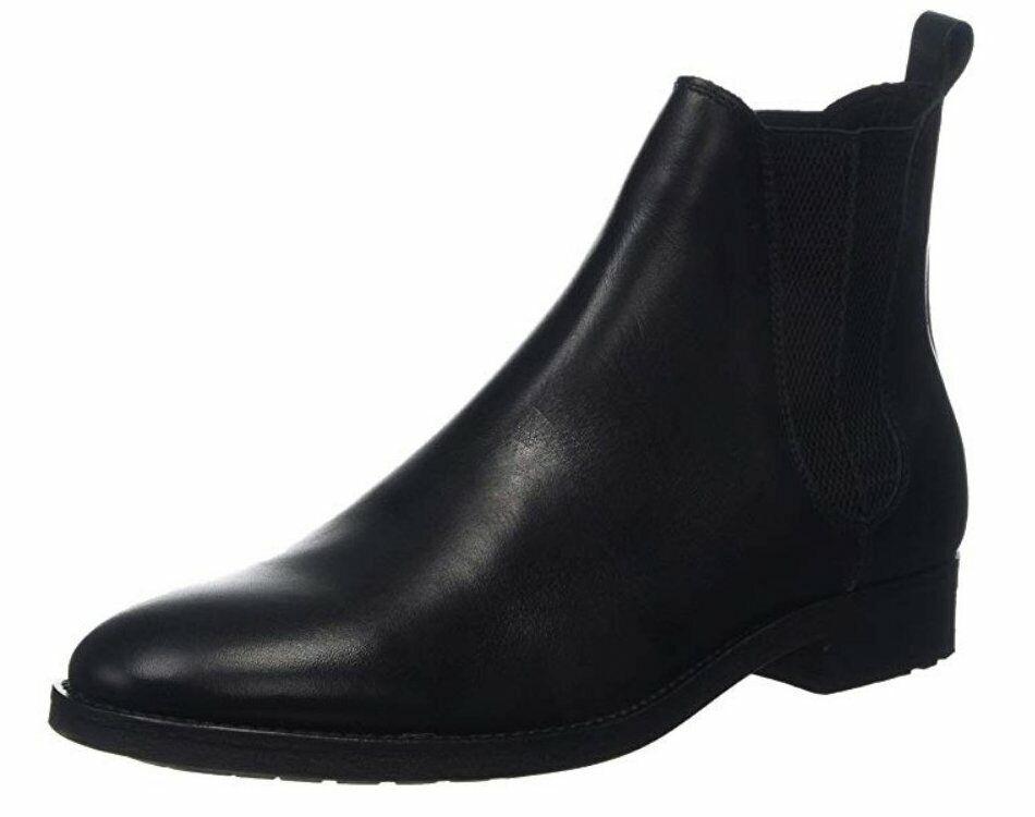 Bertie Cage Größe 11 UK men's schwarz leather chelsea ankle Stiefel NEW -