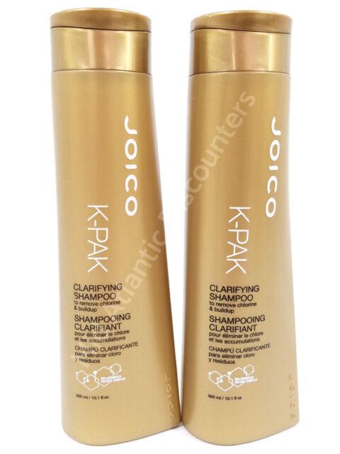 2 Joico K-PAK Clarifying Shampoos Remove Chlorine & Buildup, 10 1 fl Oz Each