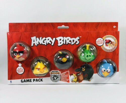 Chuck King /& Blue Bird Bomba Angry Birds GAME PACK 5 Pack-Rosso