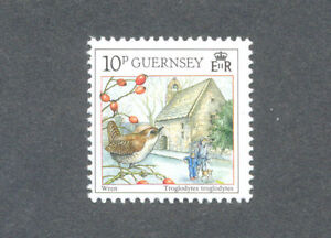 Analytique Oiseaux-wren-guernesey 1990-afficher Le Titre D'origine Couleurs Harmonieuses