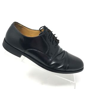 cole haan black leather shoes