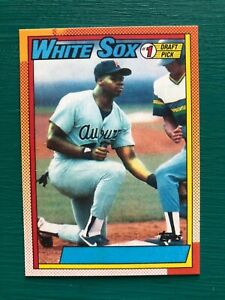 1990-Topps-Frank-Thomas-No-Name-on-Front-NNOF-Error-REPRINT-Rookie-Baseball-Card