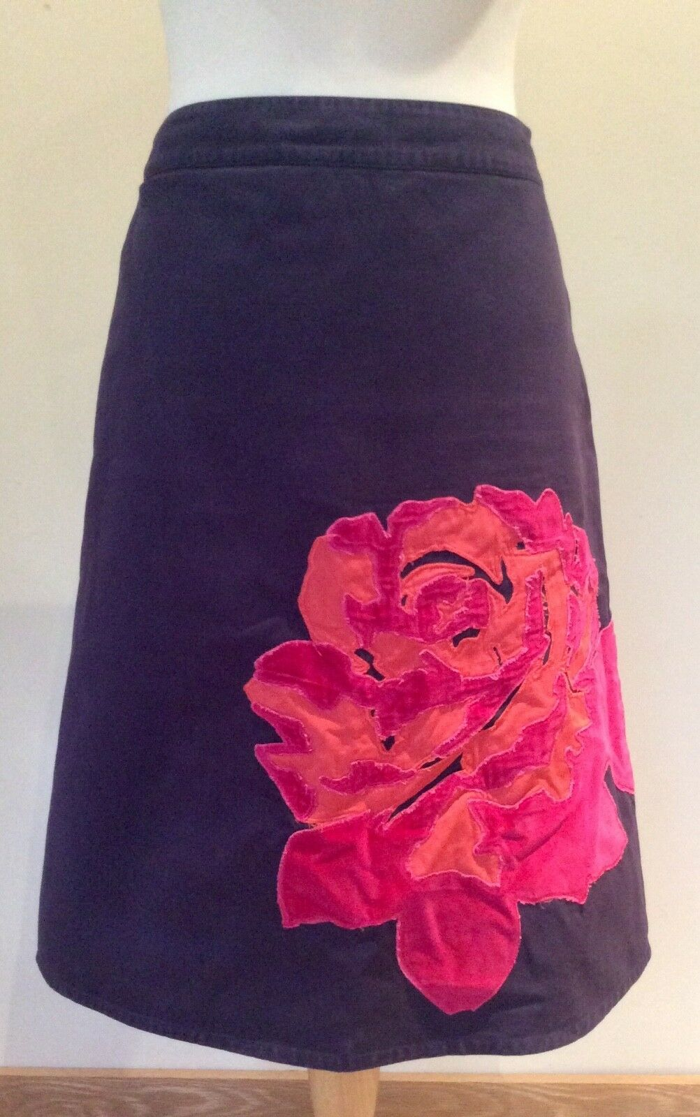BODEN SKIRT SIZE 10 L PURPLE PINK FLORAL LINED COTTON