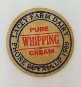 Vintage-Milk-Cream-Bottle-Cap-1-5-8-034-Lacey-Farm-Dairy-Puyallup-Washington-a2-143