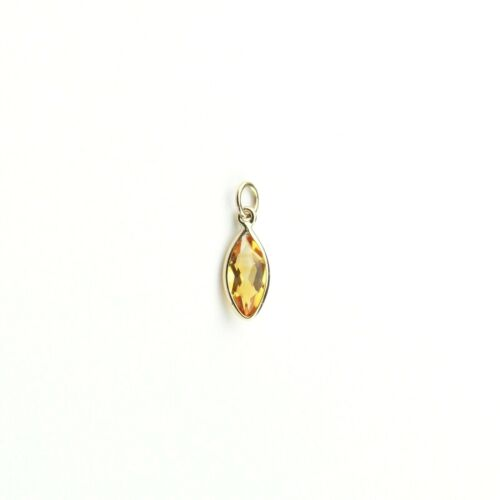 Natural Citrine charme 8x4 Marquise Set in 14K Or Jaune