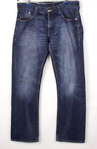 Mustang Herren Neu Oregon Gerades Bein Jeans Größe 50 (W35 L34) BCZ863