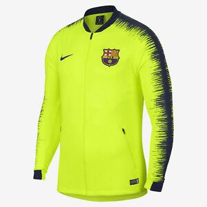 0dc45ad63 Nike FCB Barcelona Anthem Men's Soccer Jacket Volt 894361 705 Size M ...